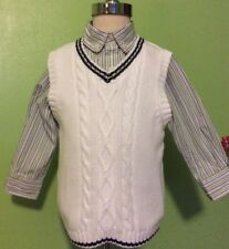 janie and jack Baby Boy Vest And Shirt Afternoon Garden Line Size 18 -2t