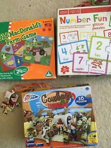 toddler board games Puzzles X 3