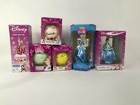 Disney Princess Ornament Lot + Bubble Night Light - Lot of 6