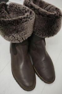 SALAMANDER hochwertige Leder Winterstiefel Gr 38,5 gefüttert Stiefel Boots