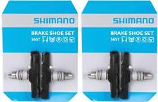 2x Shimano S65T V-Brake Pads 60mm Rubber Genuine MTB Hybrid Flatbar Y8GP9804A