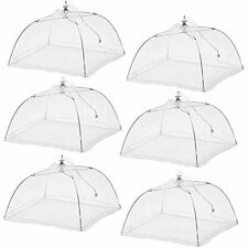 (6 Pack)Esfun Large Pop-Up Mesh Screen Food Cover Tent Umbrella, 17 Inch, And