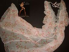 NWT Victoria's Secret GOWN slip ROBE White Pink roses S,M Bridal Dream Angels