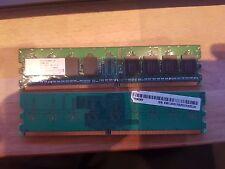 1GB Nanya NT512T64U88A0F-5A DDR2 2x 512MB PC2-3200 Non ECC 400Mhz RAM Kit