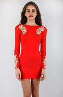 Motel Gina Dress Red & Gold Motel Rocks Bnwt New S – UK 10