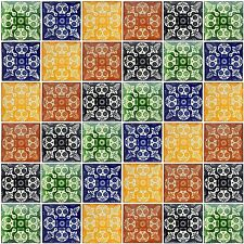 100 Mexican Ceramic Calavera Tiles Day Of The Dead Mix Dia de Muertos 4x4