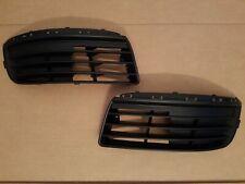 2PC Set 2005-2010 JETTA Driver & Passenger Front Bumper Fog Light Grille Inserts