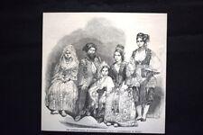 Famiglia Algerina, ai giardini Vauxhal-Dagherrotipo di Beard Incisione del 1851