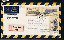 14170) LH FF Hambourg-Amsterdam 1.4.66, Sou à partir de CSSR, chemins de fer train