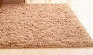 Super Soft Area Rug Modern Soft Shag, Solid Area Rug in Tan/Beige Brand NEW!