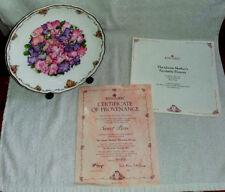 """Piatto da collezionisti Royal Albert """"DOLCE Peas'S BY SARA Anne Schofield & CAVALLETTO STAND"""