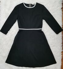 Wool Black Dress with Pockets Long Sleeve- US 6