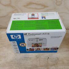 HP Photosmart A516 Compact Digital Photo Inkjet Printer NEW - Factory Sealed