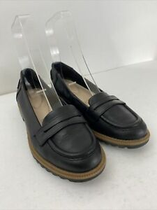 Clarks Somerset Loafers Black Griffin Milly Flat Slip On UK 4.5