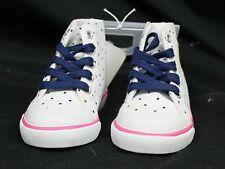 Gymboree Sugar Reef Girls Sz 6 Shoes Pineapple Glitter Polka-Dot White Hi-tops