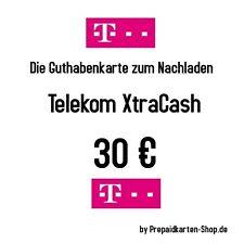 XtraCash 30 Nachlade-CODE / Telekom Cashkarte Aufladekarte mit 30€ per EMAIL