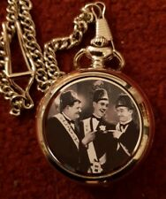 LAUREL AND HARDY   POCKET  FOB WATCH NEW 4