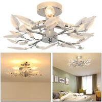 Ceiling Lamp w/ 4 Acrylic Leaf Arms Ceiling Led Light Home Lighting Living Room