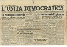 L'UNITA' DEMOCRATICA 20 MAGGIO 1946