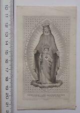 feuillet Association de Notre Dame du Sacré Coeur prières - adhésion 1832