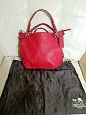 Coach Bag Brooke cherry red pink 14142 pebble Leather Shoulder Handbag ret$428