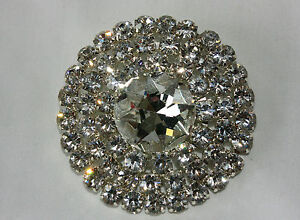 Diamante Rhinestone Brooch, Circular Design, Decorate a Coat, Jacket or Dress