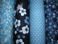 Cuarto Gordo Tela Azul X 4 paquete 100/% Tela De Algodón Artesanía//Acolchar Bly