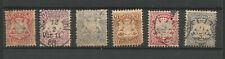 Allemagne Royaume de Bavière 18670/1900 6 timbres oblitérés /TR306