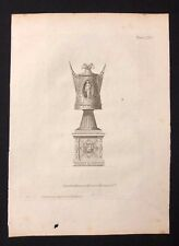 Antigüedad 1800 impresión constructores revista de diseño de arquitectura para un jarrón de fuego LXXIV
