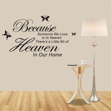 Room Quote Wall Sticker We Love Is In Heaven Because Someone Vinyl Art DIY Decal