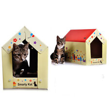 Dual use Cat Toy House Corrugated Cardboard Cat Scratching Bed Pad Scratcher