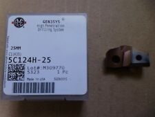 25 mm carbure Spade Drill Insert-ame GEN3SYS - 5C124H - 25