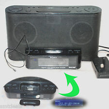 Sony XDR-DS12iP iPod/iPhone Docking con Altoparlanti Nero con Radio & Clock-Senza telecomando