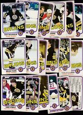 1981 - 82 OPC Team SET Lot of 18 Boston BRUINS NM+ o-pee-chee BOURQUE PARK Terry