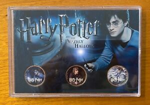 Harry Potter Deathly Hallows British 3 Coin Set - Harry Potter Hermione Ron