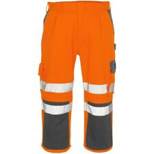 MASCOT Natal 3/4 Length work Trousers HI VIS ORANGE REFLECTIVE NEW Waist 32.5""