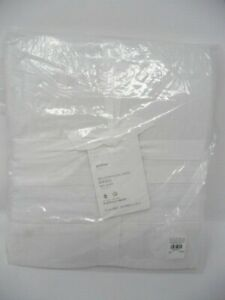 """POTTERY BARN Belgian Flax White  QUEEN BED SKIRT 14"""" drop"""