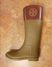 2a0ae7608fc3 Tory Burch  Classic  Olive Green Brown Leather Boots Womens 11 M MSRP