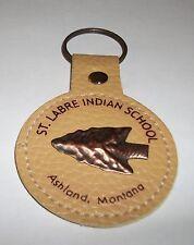 Arrowhead Copper Round Leather Key Chain St Labre School