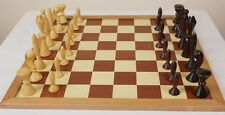 MID CENTURY VINTAGE ANRI SPACE AGE CHESS SET By Arthur Elliot  with BOARD - RARE