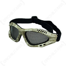 DIGITAL DESERT MESH GOGGLES - Camouflage Tactical Military Combat Airsoft Safety