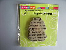 STAMPENDOUS RUBBER STAMPS CLING HEART OF FRIENDSHIP STAMP
