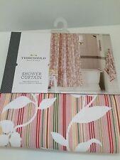"Threshold Pink Vine Silhouette Shower Curtain 72"" x 72"""