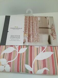 "Threshold Pink Vine Silhouette Shower Curtain 72"" x 72"""