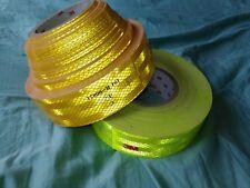 Hi Vis Fluorescent Tape Reflective Tape Vinyl Roll Self Adhesive Metre Lengths