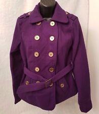 Voice Woman's Purple 40% Wool Button Front Jacket Size S
