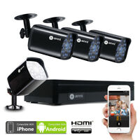 Anni 4CH 1080N DVR 720P Outdoor Home IR Security Camera System Video Recorder