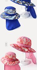 Kids Sun Hat Boy Girl Extra Wide Brim UPF50+ Cover Back Neck Spring Summer Caps
