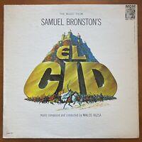 Vintage Vinyl 33rpm LP Record: El Cid, Heston & Loren; Motion Picture Soundtrack