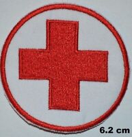 RED CROSS Medical Iron/ Sew-On Embroidered Patch Costume Badge